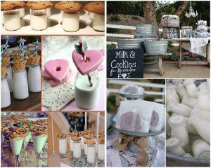 Milk and Cookies Bar Image via: exclusivelyweddings.com & weddingchicks.com