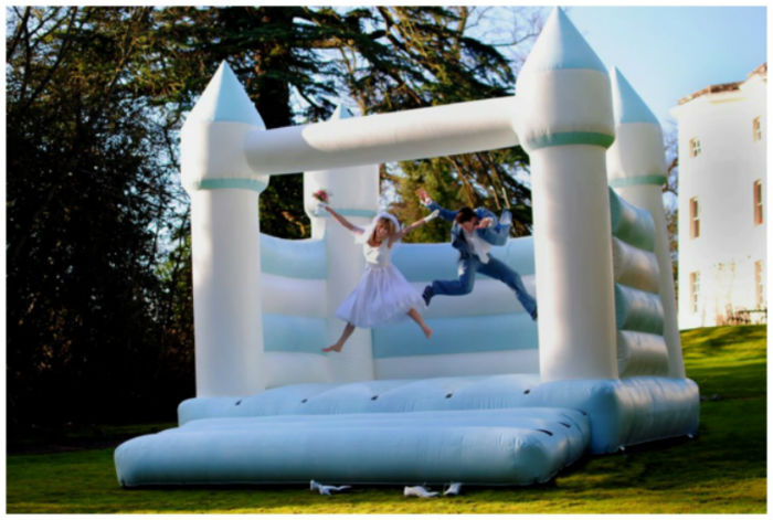 Sarah-young-event-in-malta-bouncy-castle