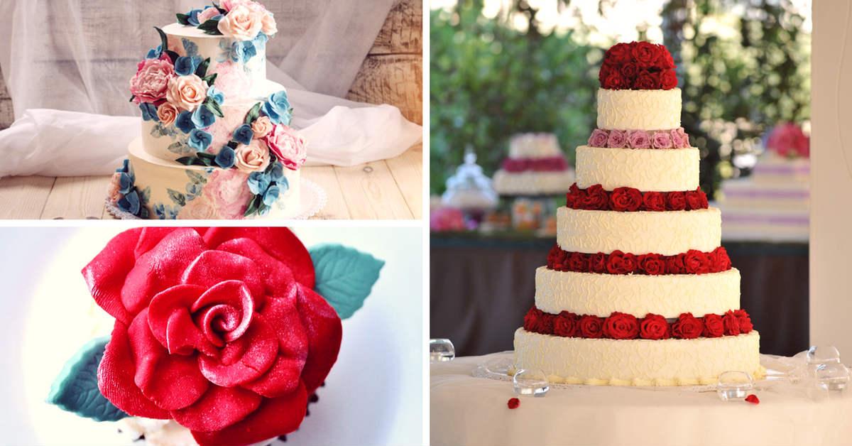 cakes - Top 10 Valentine's Wedding style ideas rose-wedding-cake