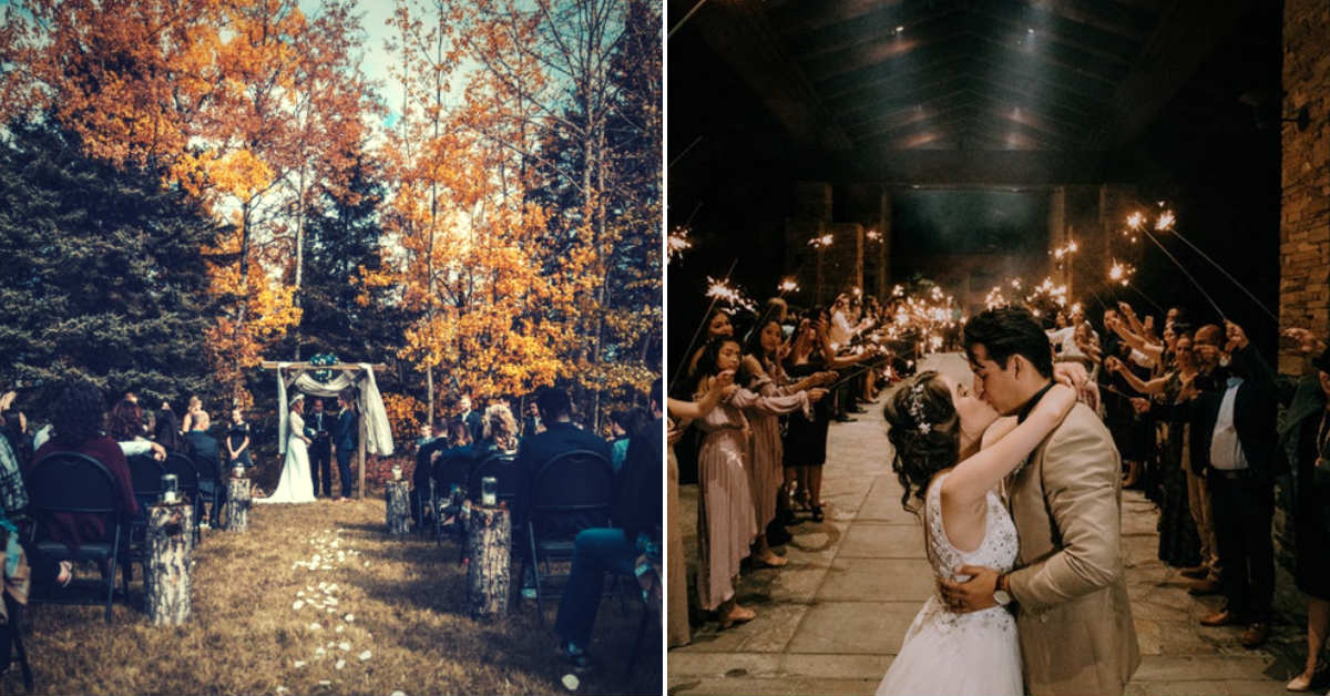 Outdoor vs Indoor Winter Weddings Sarah young events