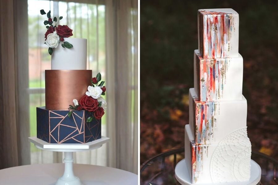 Geometric-wedding-cake-ideas-sarah-young
